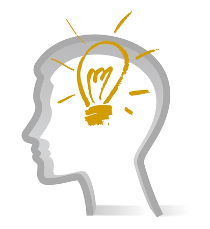 brain storm: idea bulb Illustration