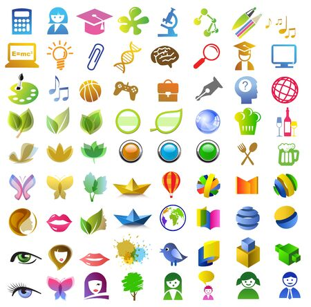 a lot of icons Vector