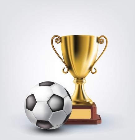 trophy winner: míč a trofej Ilustrace