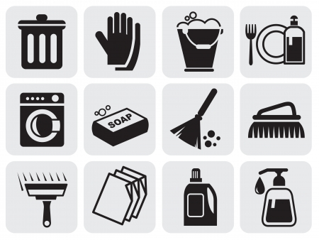 sponges: cleaning icons