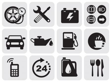pila: iconos de automóviles