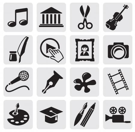 camera icon set: Art Culture icon Illustration