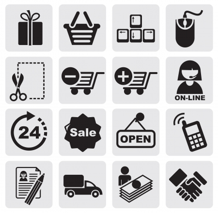 Shopping Icons Stock Vector - 14302996
