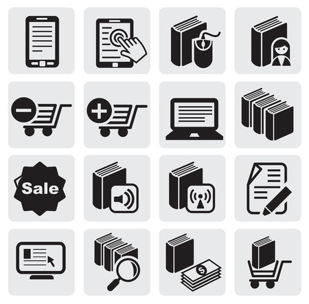 e-book icons Stock Vector - 14303011