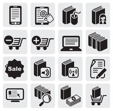 e reader: e-book icons Illustration