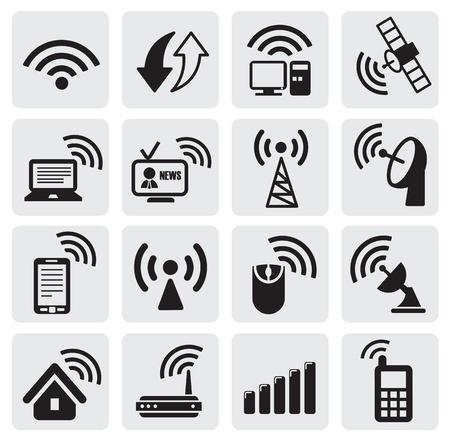 broadcasting: los iconos de la tecnolog�a Vectores