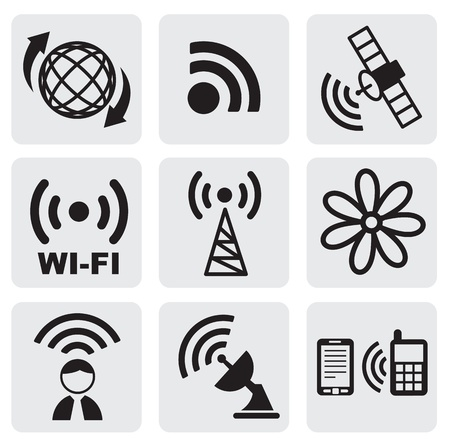 gsm phone: technology icons