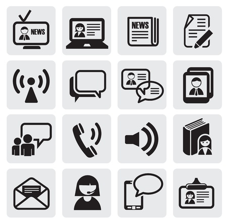 peri�dico: iconos de comunicaci�n