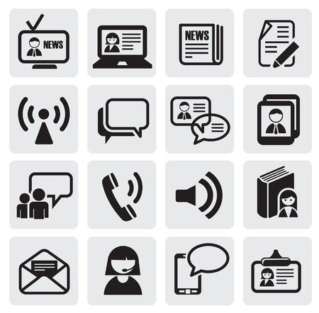 komentář: komunikace ikony Ilustrace