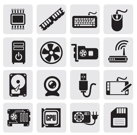 Los iconos de configuración de la computadora