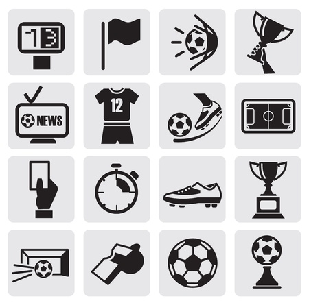 goal kick: Icons set Soccer