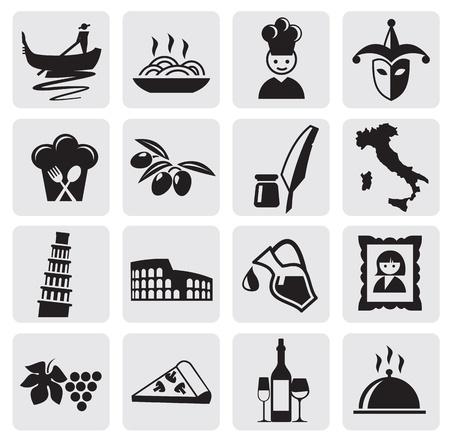 Italian icons Vector