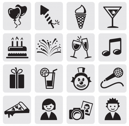 Birthday icons set Stock Vector - 14347422