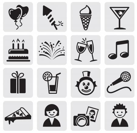 iconos de música: Iconos del cumplea�os establece