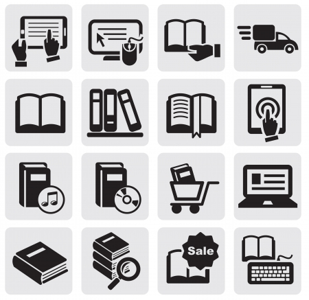 cart icon: Books icons