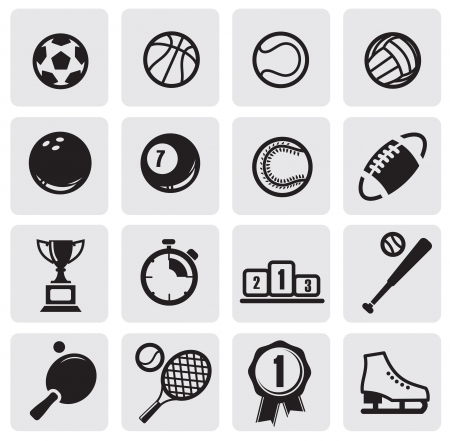 rugby ball: set sports Illustration