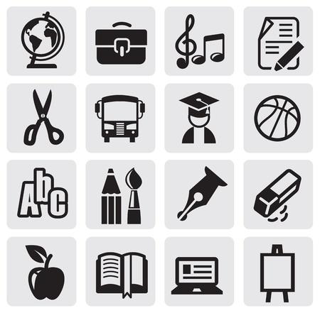 ball pens stationery: Iconos de fijar la escuela