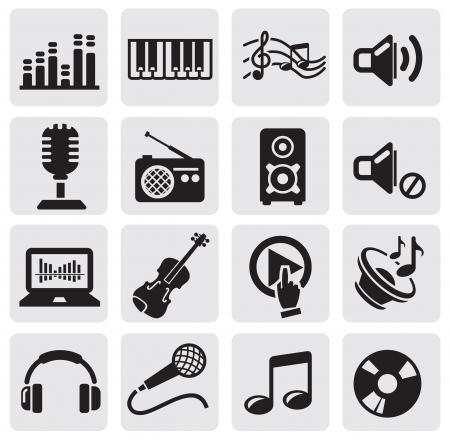 music loudspeaker: music icons Illustration
