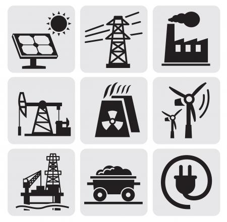 Zestaw energia Ilustracje wektorowe