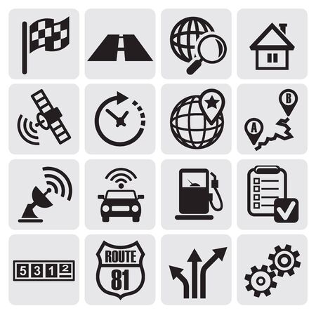 navigation set Stock Vector - 14484521