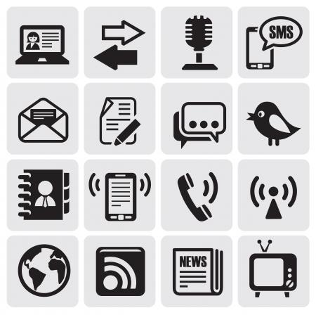 medios de comunicacion: Configuraci�n para la comunicaci�n Vectores