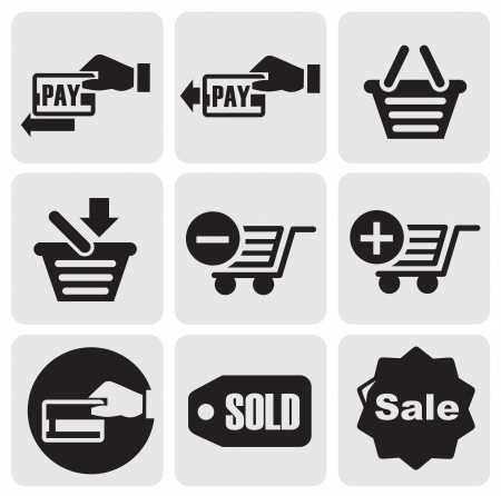 pay bill: Vector Payment icons set. E-commerce. Illustration