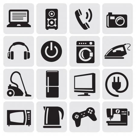 apparaten icons set