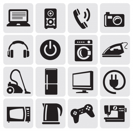 devices icons set Stock Vector - 14538220