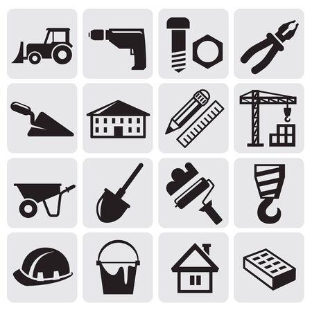 truck crane: construction set Illustration