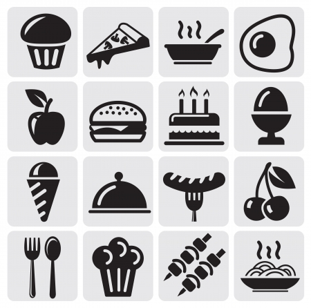 food icons Stock Vector - 14538222
