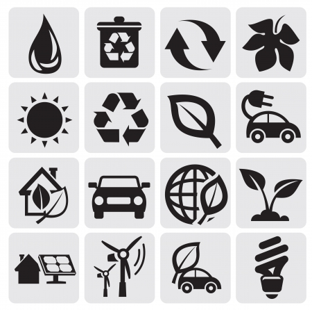 eco energy icons Stock Vector - 14538240