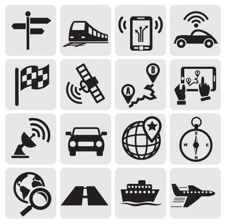 антенны: навигационные иконки Иллюстрация