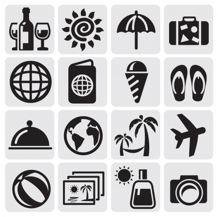 luggage bag: rest icons