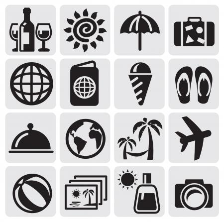 beach bag: rest icons