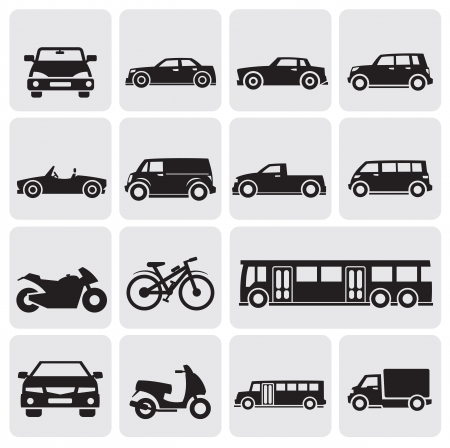 Transport-Set Vektorgrafik