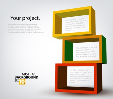graphic design background: 3d boxes