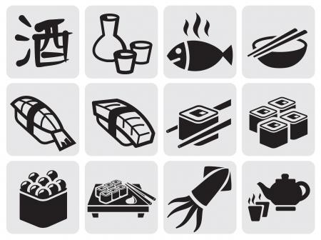 japanese food: Set of sushi