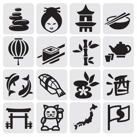 Japanese icon set Stock Vector - 14655251