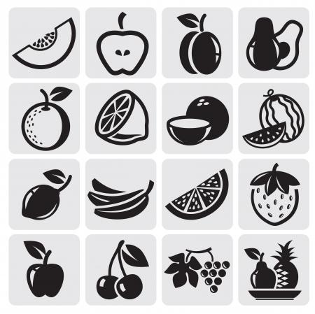 owoców: Zbiór owoców Ilustracja