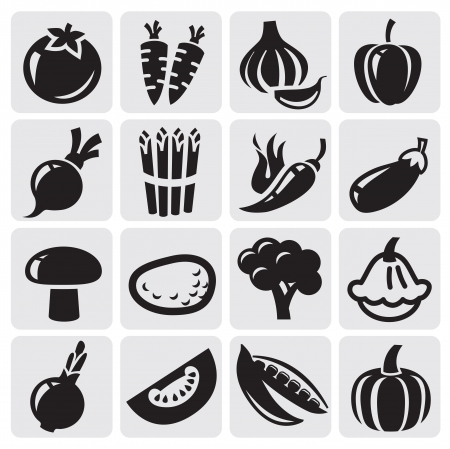 asperges: groenten set Stock Illustratie
