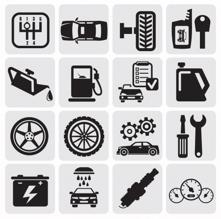 car tire: Auto Car icons