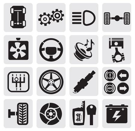 car tire: auto iconen