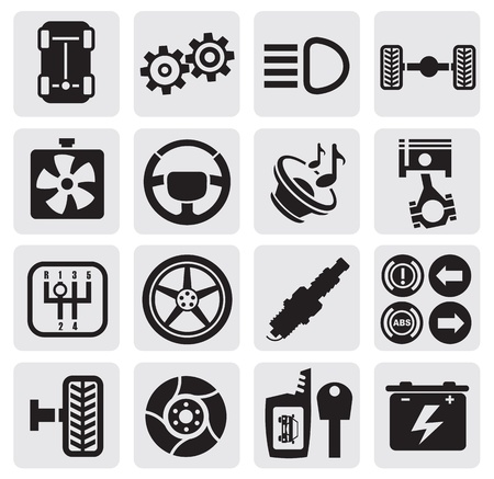 auto icons Stock Vector - 14697473