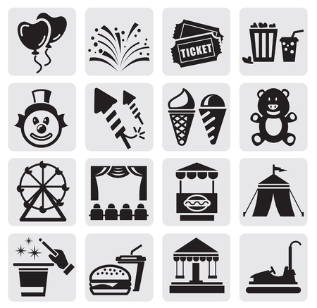 ferris wheel: carnival icons