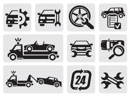 service car: car repair icons