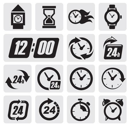 relojes iconos Ilustración de vector