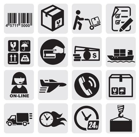 Iconos de envío Ilustración de vector