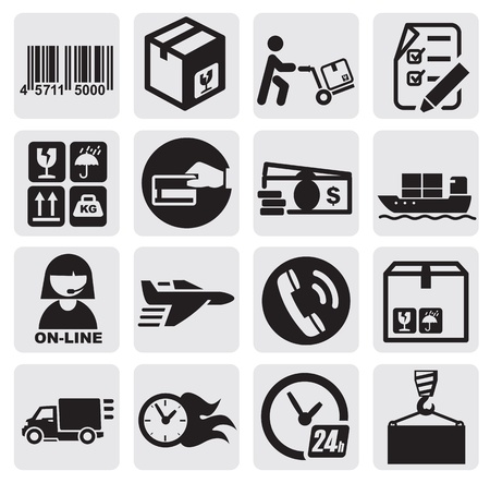 ship sign: shipping icons Illustration