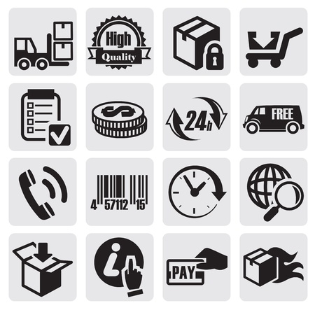 shipping icons Vector
