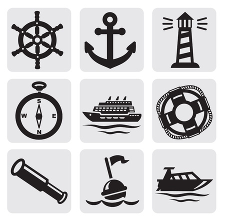 marine ship: nautical set